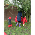 A good game of hide and seek in the secret garden.