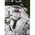 Amy's snowman.