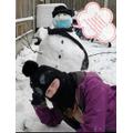 Lizzie's snowman.