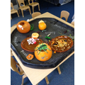 Pumpkin messy play