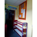 You'll find the lunch trolley below the class noticeboard in the corridor.