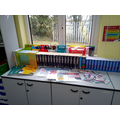 At the back of the room you will find English resources to help you.