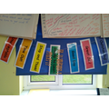 Our behaviour chart celebrating our great job and outstanding learning