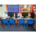 We have our own computer area for directed research/online interventions.