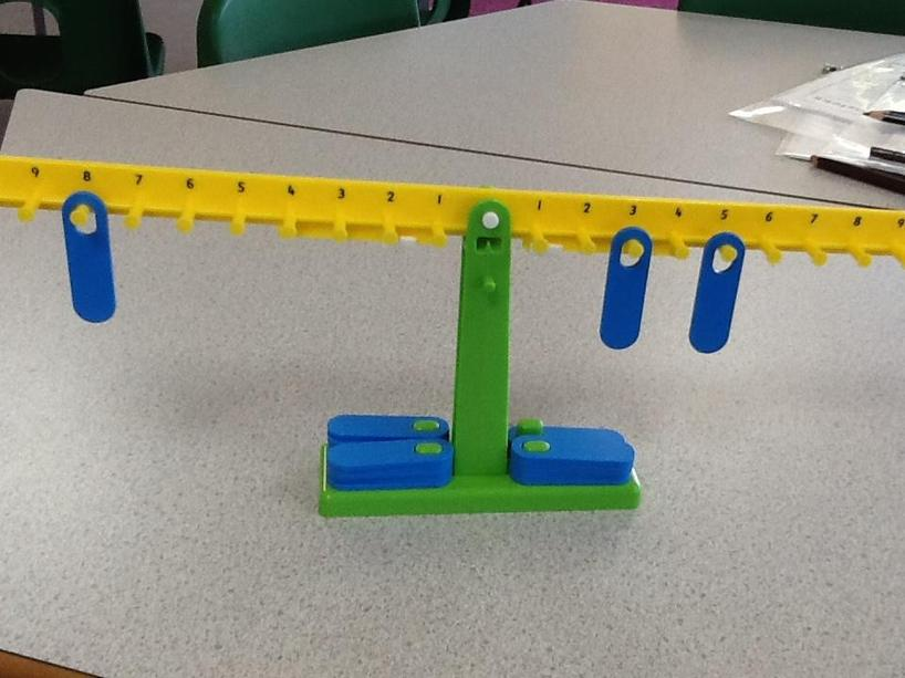 Number balance scales