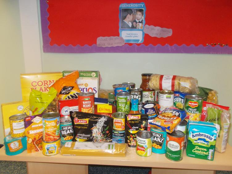 A small selection of the food donations-THANK YOU