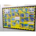 Our display in the school corridor