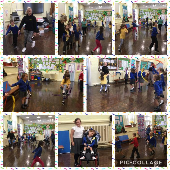Super dance session with Charlotte from Upbeat.