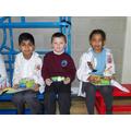 Year 1 - Aditya, Archie, Leonie