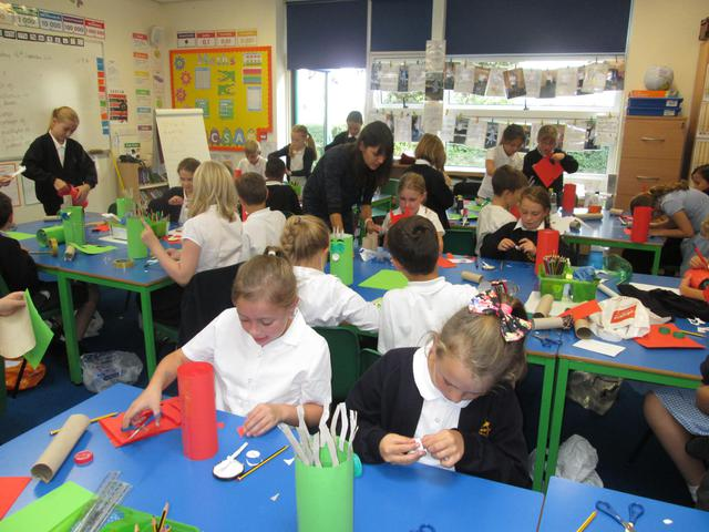 Eco Class Time with Year 5 - Making Eco Mascots