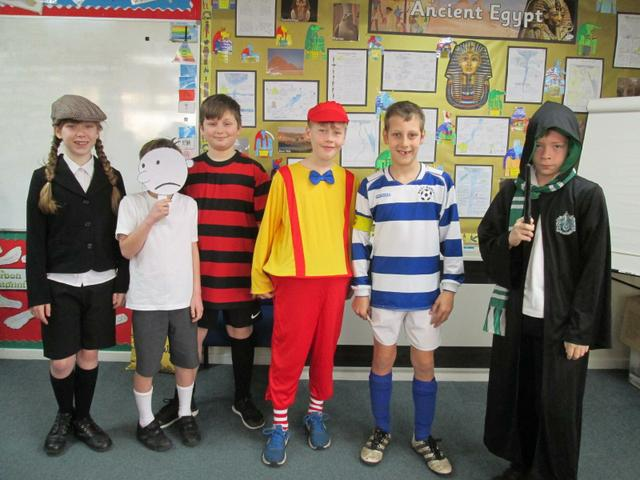 Year 6 World Book Day costumes - March 2019