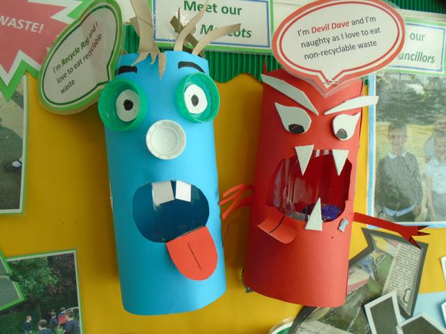Meet our Mascots, Recycle Reg and Devil Dave