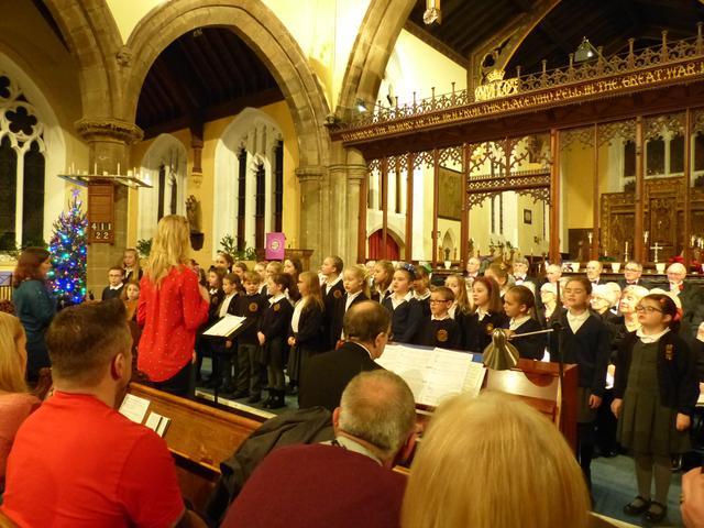 Choir performing at St Mary's Church in Bingham