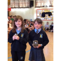 Leona and Leah with their Numeracy prizes