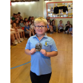 Kevin with his Numeracy prize