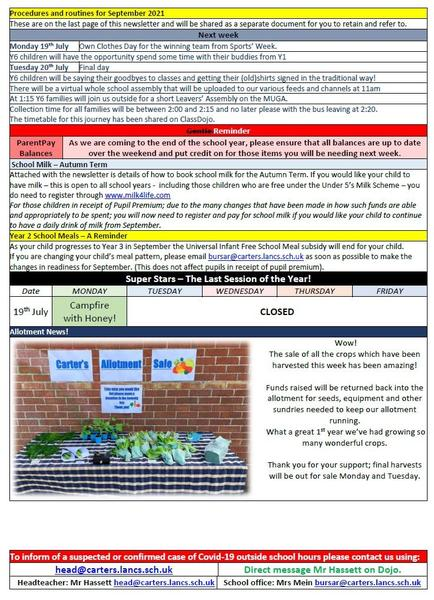 16th July Newsletter page 2