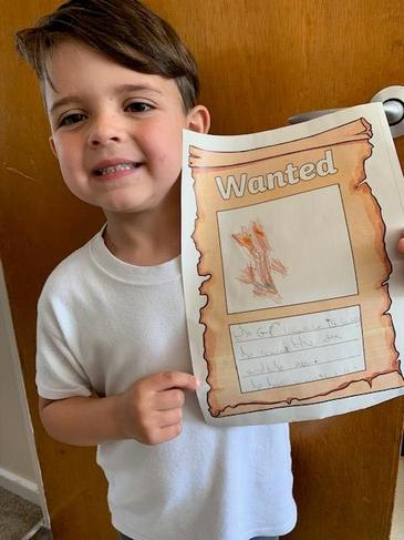 Wanted Poster - Looking so proud!