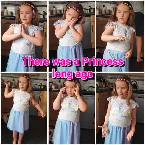 """Dancing """"There was a princess""""."""