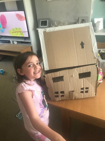 A very proud house builder!
