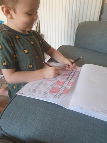 designing his tartan