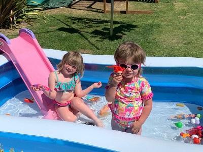 Paddling Pool fun with my sister