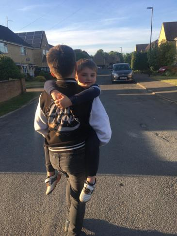 Big brothers are great for carrying you home