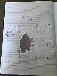 Using adjevctives to describe The Gruffalo