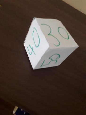 Brilliant home made number game