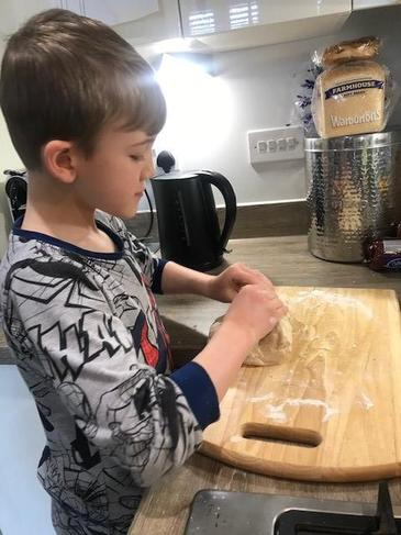 Learning a vital life skill - baking bread