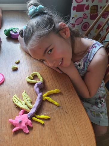 Model dragons with plasticine