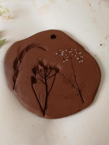 Flower clay impressions