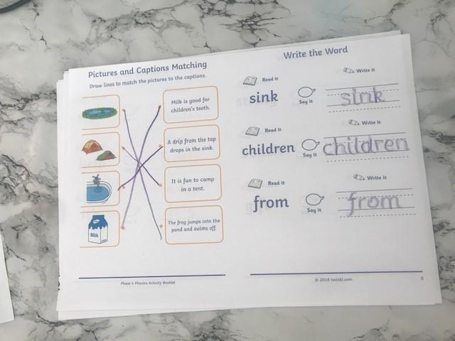 Reading and writing practise makes perfect!
