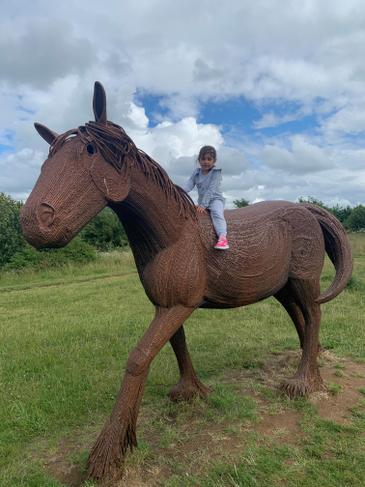 A wonderful horse statue