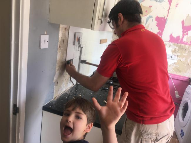 Helping with the kitchen renovations