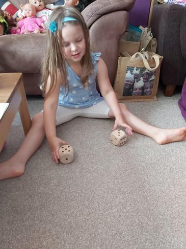 Exploring doubles with a dice