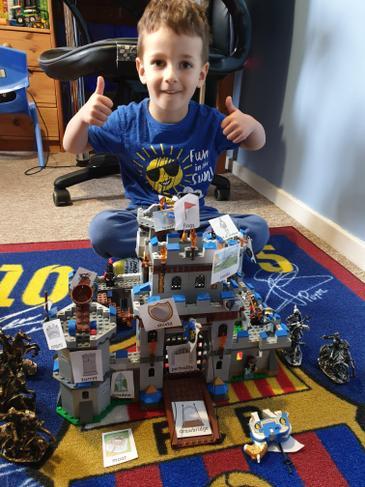Building a castle.