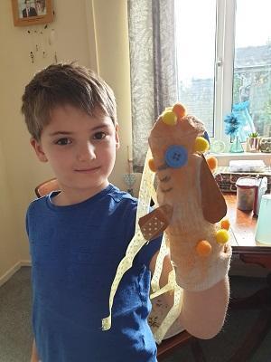 My Goldfish puppet