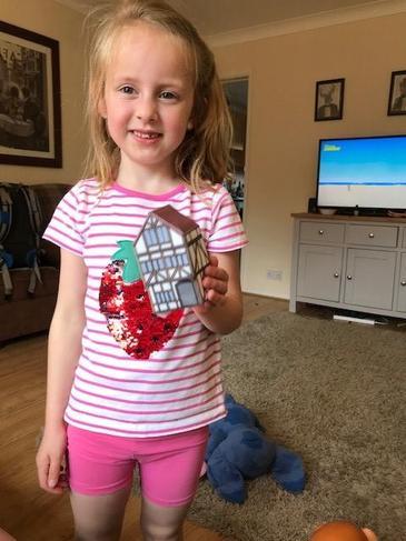 Martha has made a model London Stuart house