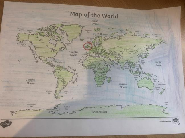 Finding the UK on a world map