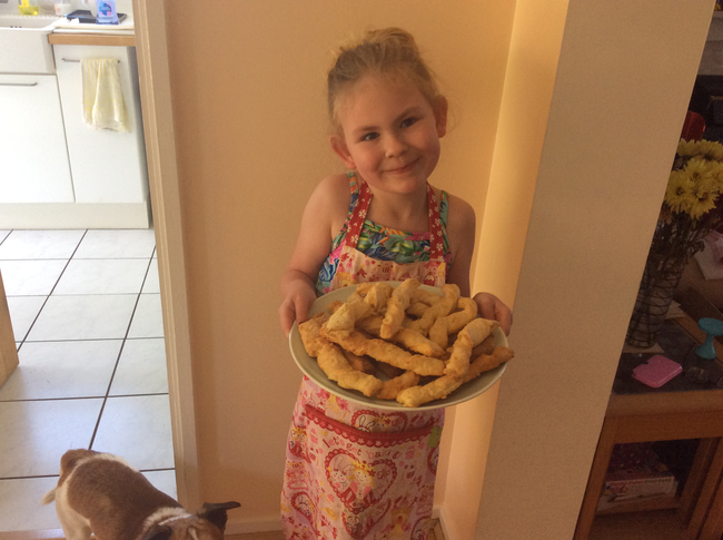 Cooking  cheese straws