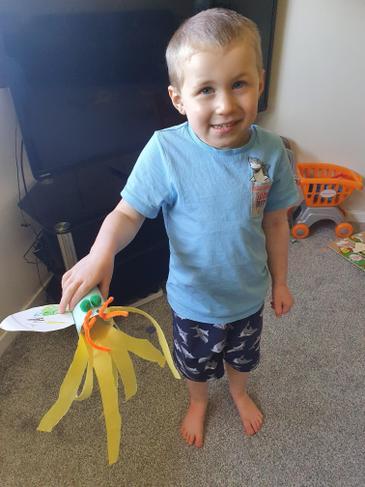 a very fiery dragon model!