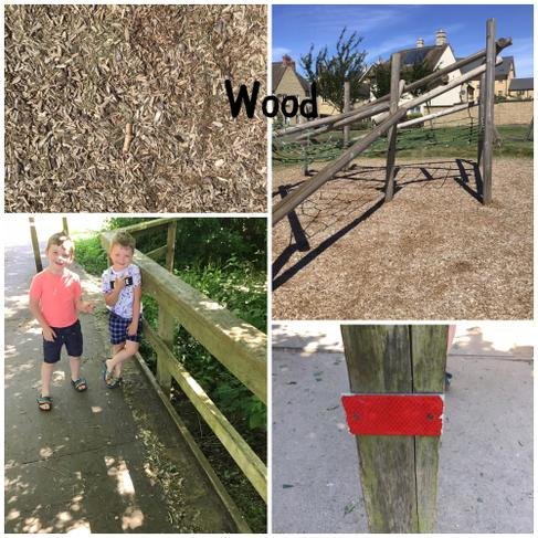We found lots of things made from wood