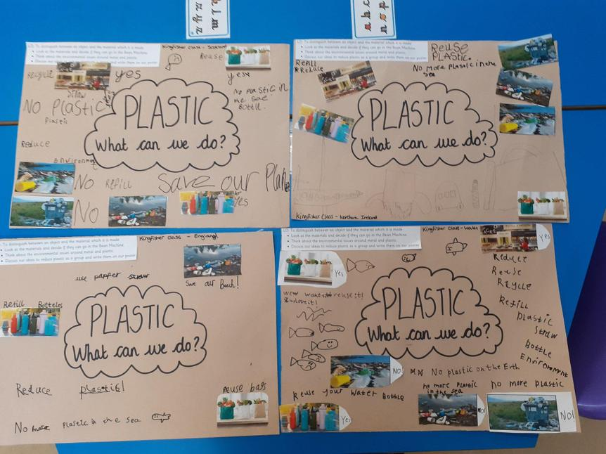 Posters to show the impact of plastic