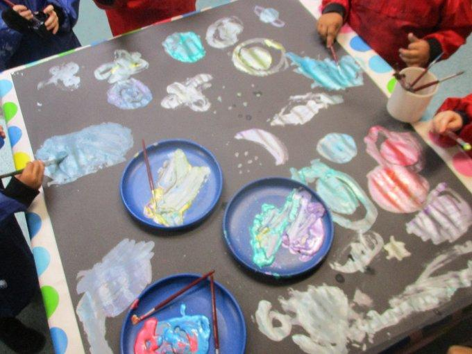 Creating a galaxy picture #NationalSpaceWeek