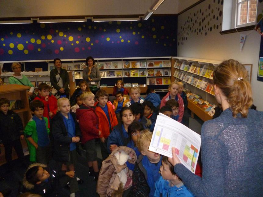 Year 2 visited Watford Library.