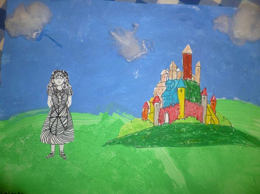 Mixed media picture of a Mixed Up Fairytale Year 1