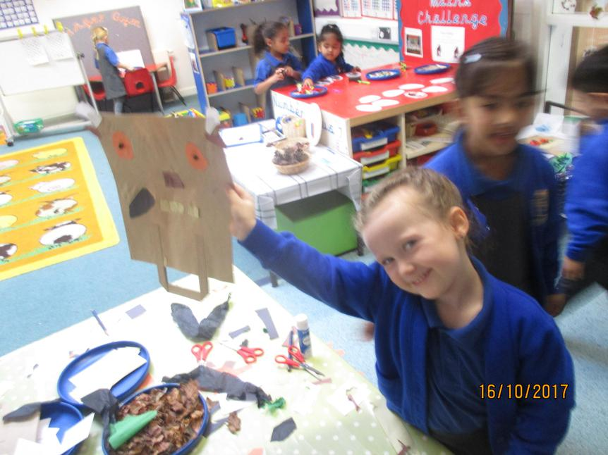 """I liked making Gruffalo masks"""