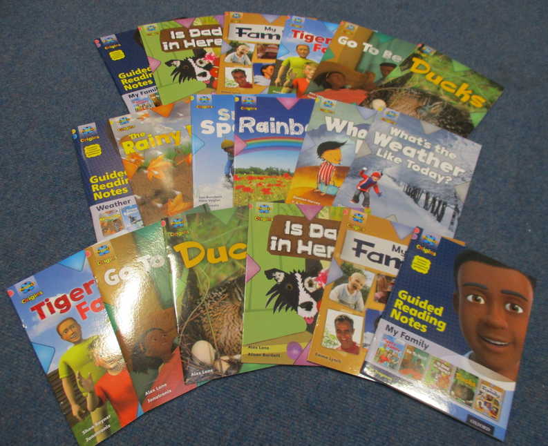 Reception got new books for their reading scheme.