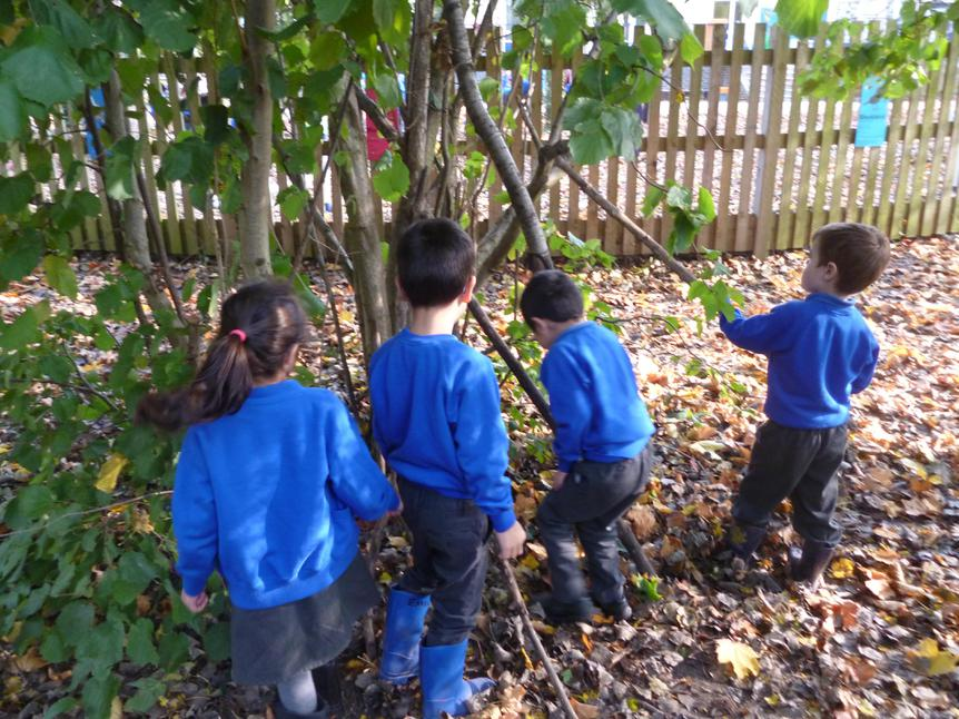 We built our own dens...