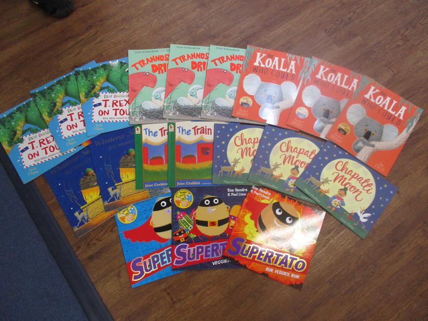 We chose picture story books.